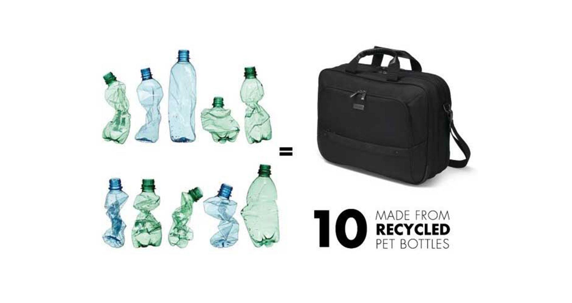 Ein Rucksack aus PET-Flaschen